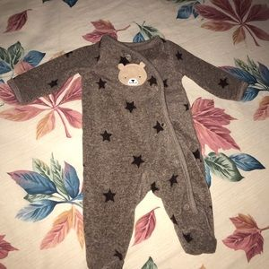 NB Bear snuggly onesie